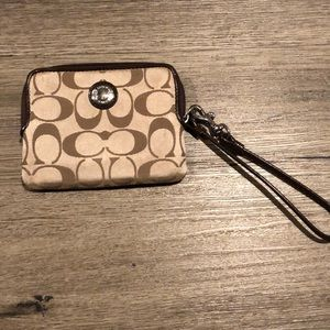 Coach Wristlet Small  5 inches long